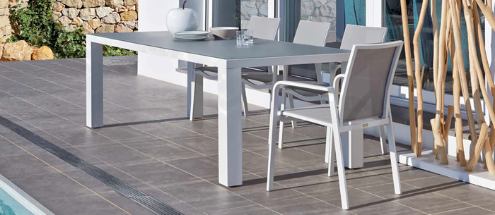 Inlay Garden Dining Table and Chairs