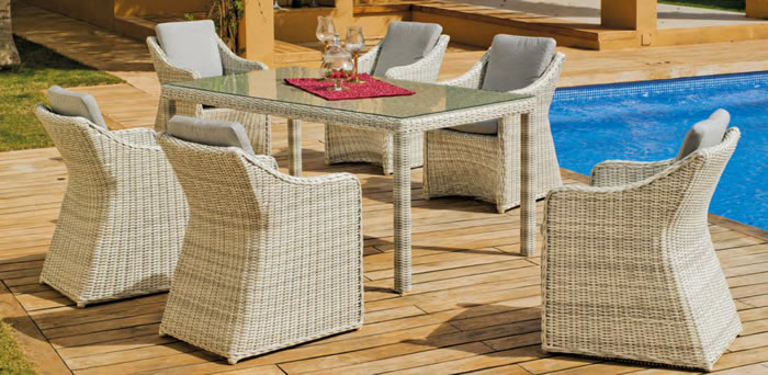Celebes 180cm Garden Dining Table and Chairs