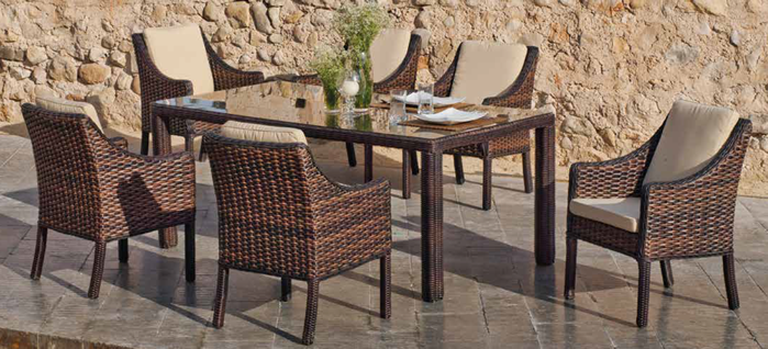 Nabab Leros Garden Dining Table and Chairs