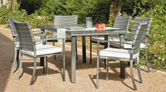 Rimini Garden Dining Table and Chairs Special Offer