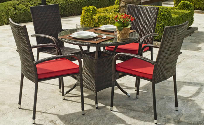 Bergamo Garden Dining Table and Chairs Special Offer