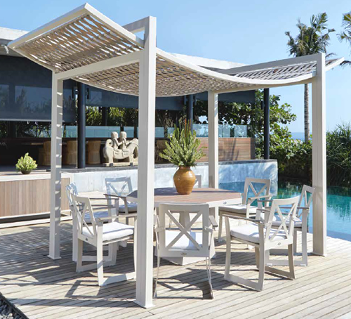 Skyline Rhone Garden Dining Set with Canopy