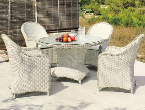 120cm Garden Table and Chairs
